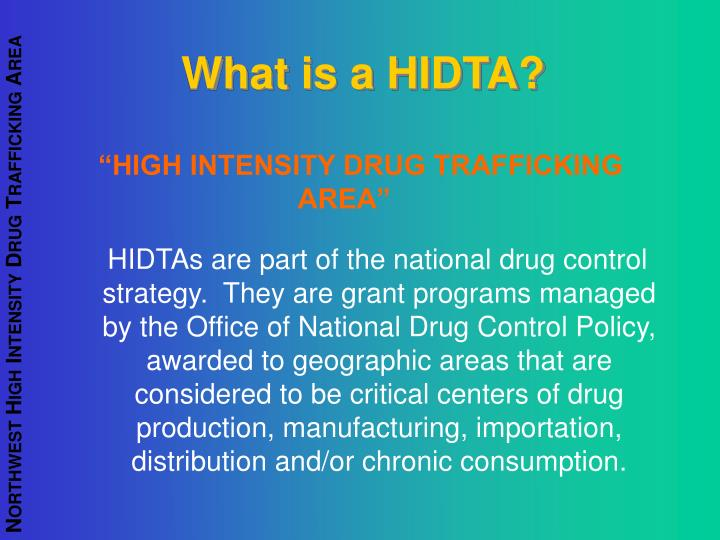 What is a HIDTA?