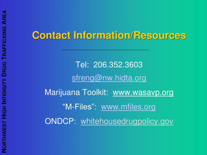 Contact Information/Resources
