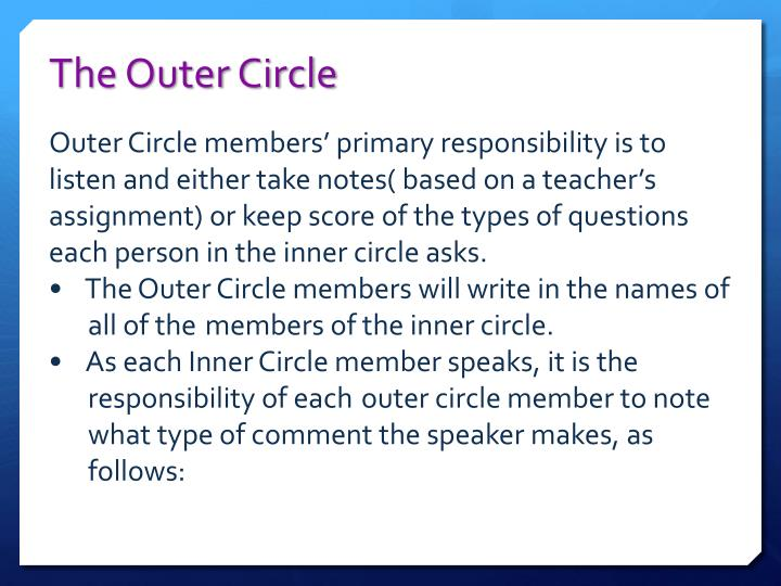 The Outer Circle