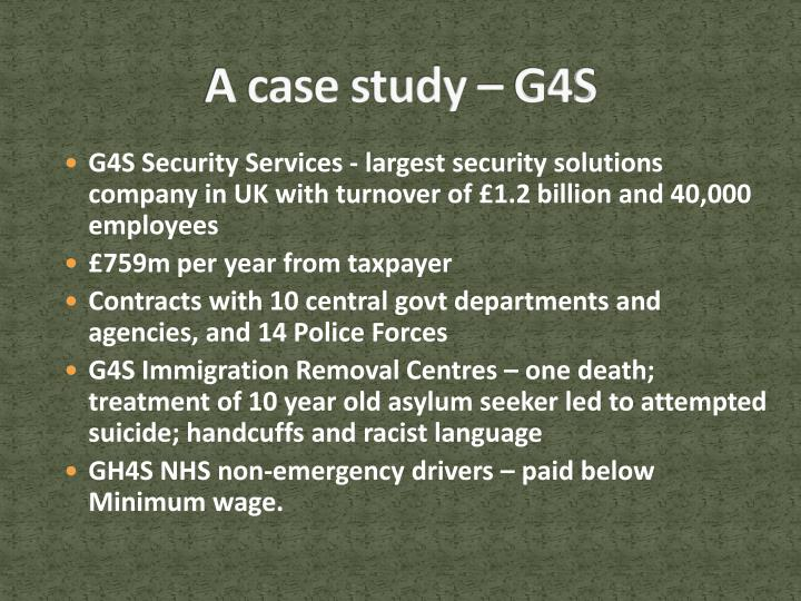 A case study – G4S