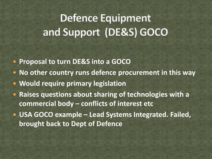 Defence Equipment