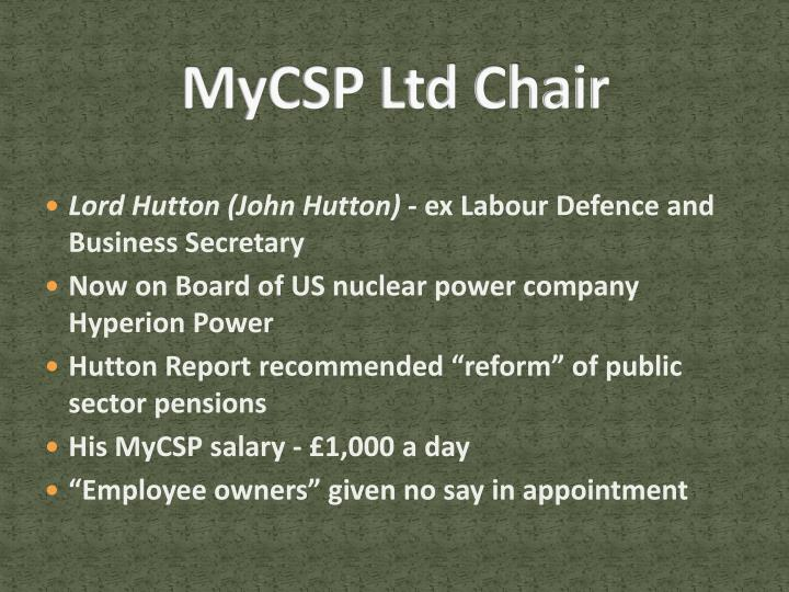 MyCSP Ltd Chair