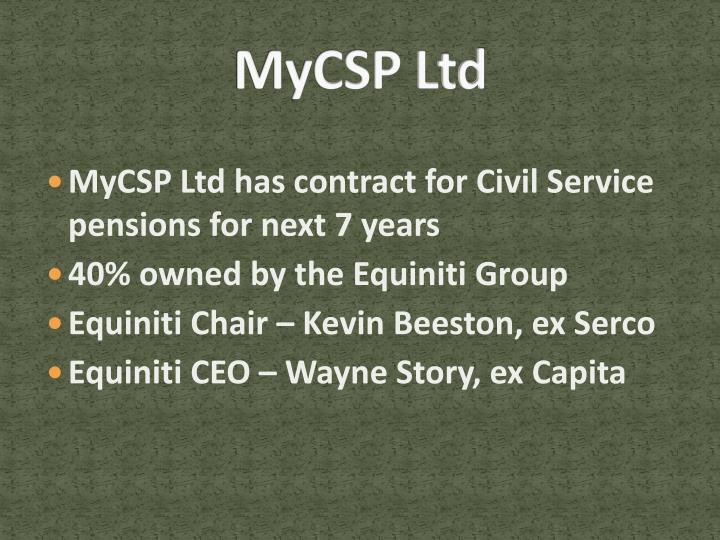 MyCSP Ltd