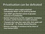 privatisation can be defeated