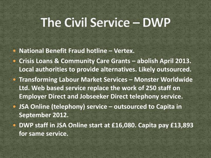 The Civil Service – DWP