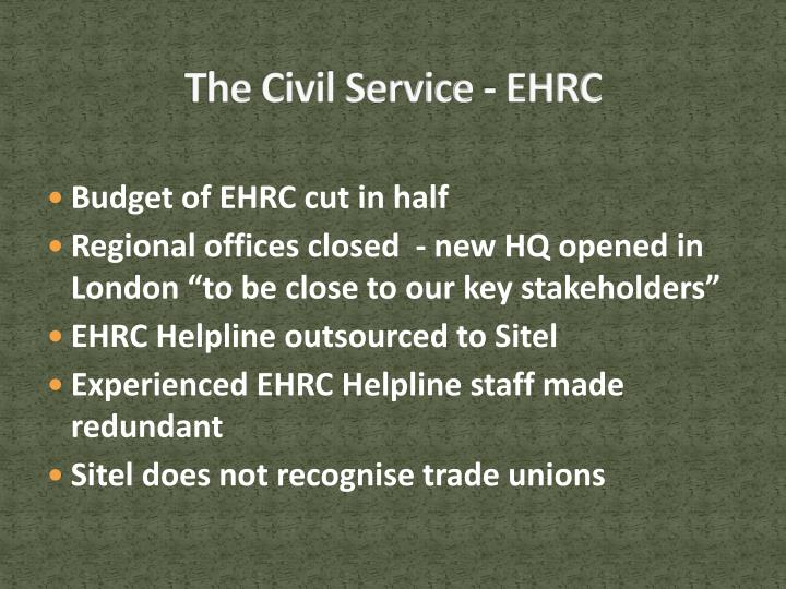 The Civil Service - EHRC