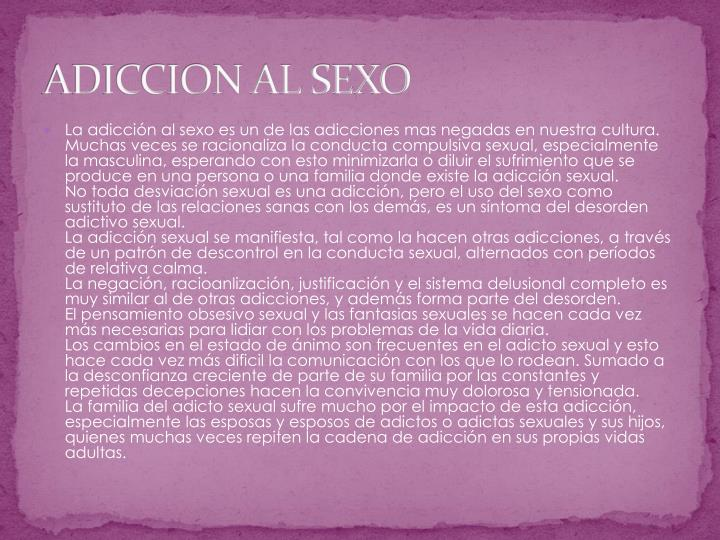 ADICCION AL SEXO