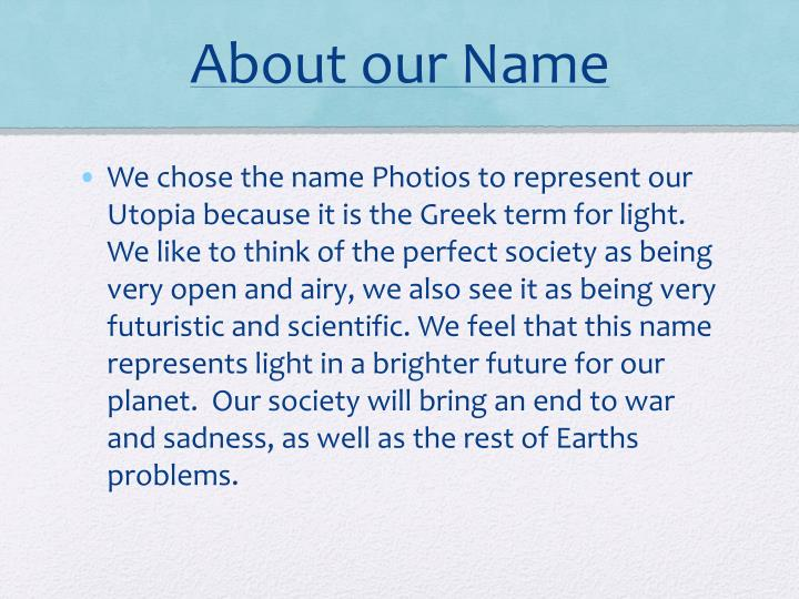 About our Name