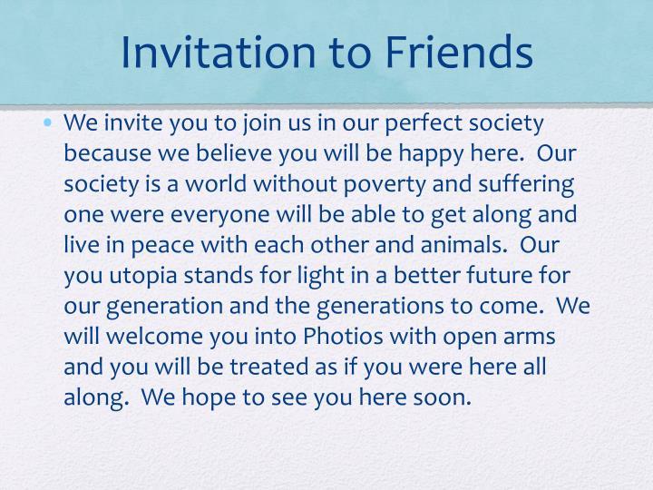 Invitation to Friends