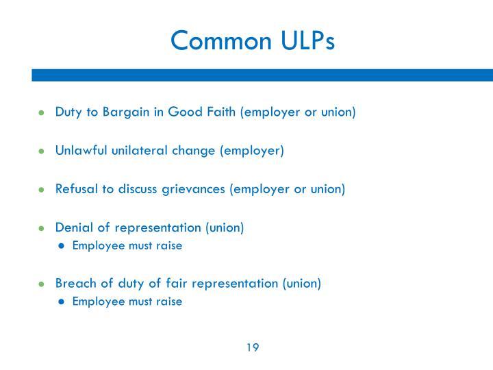 Common ULPs