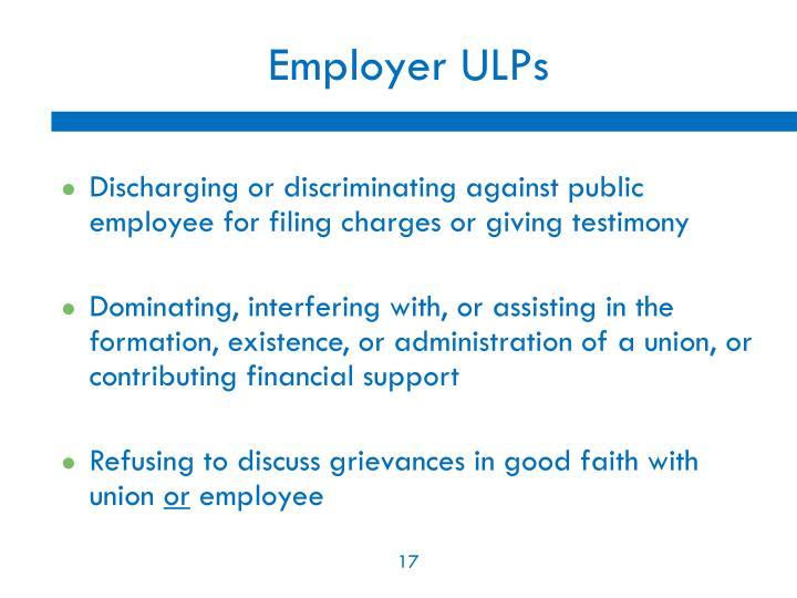 Employer ULPs