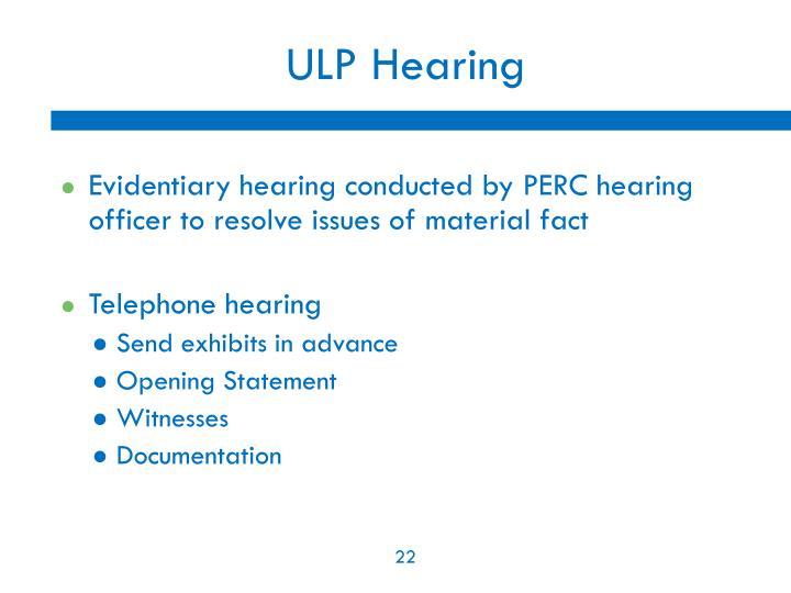 ULP Hearing