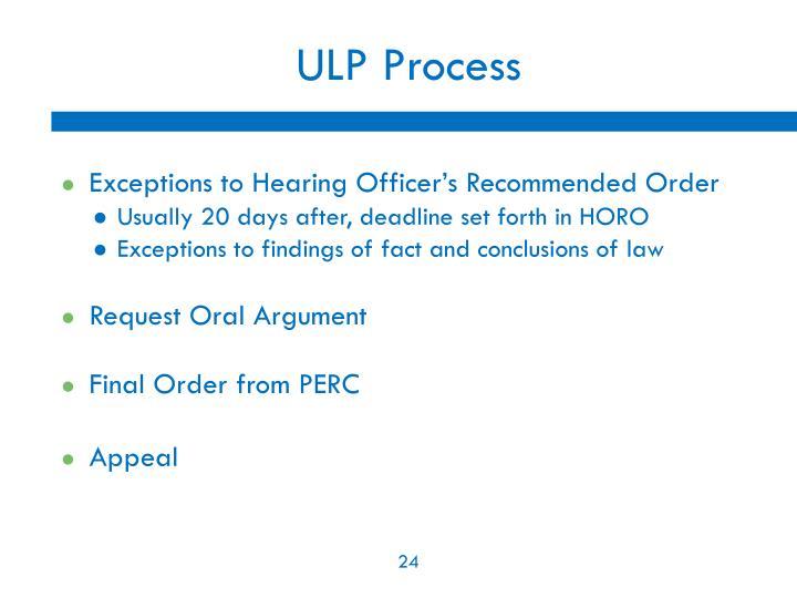 ULP Process