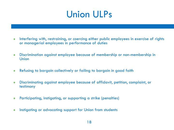 Union ULPs
