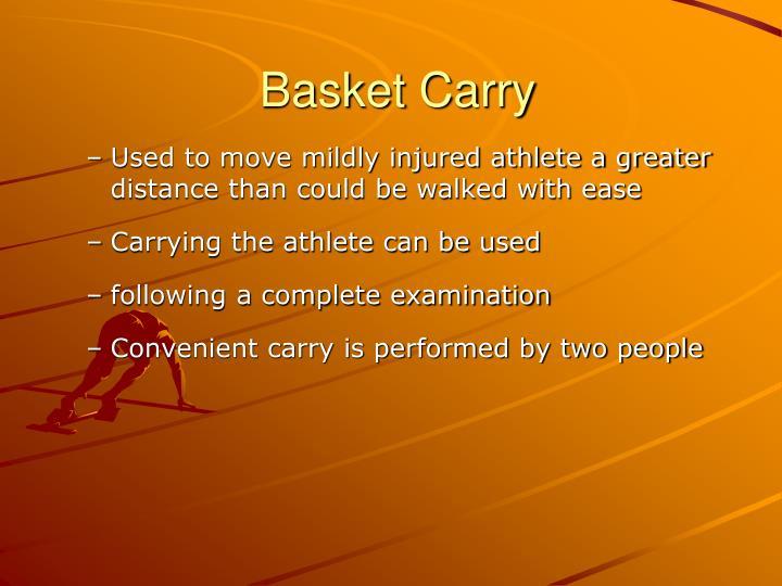 Basket Carry
