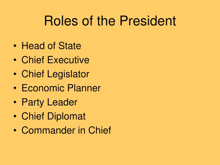Roles of the President