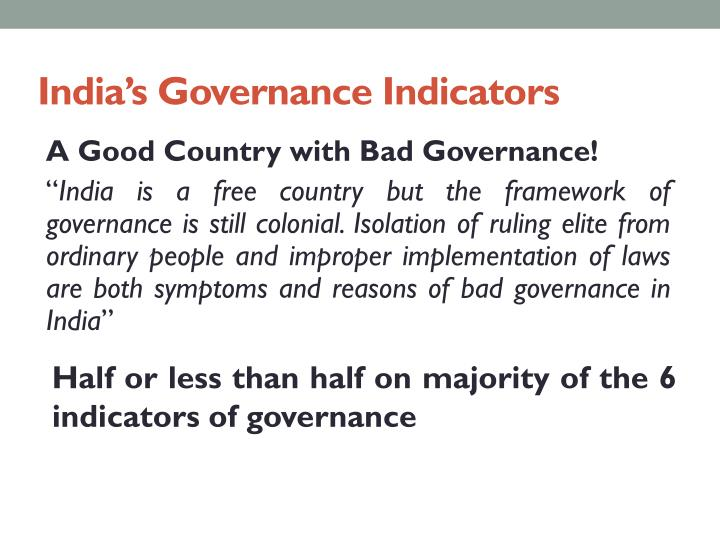 India's Governance Indicators