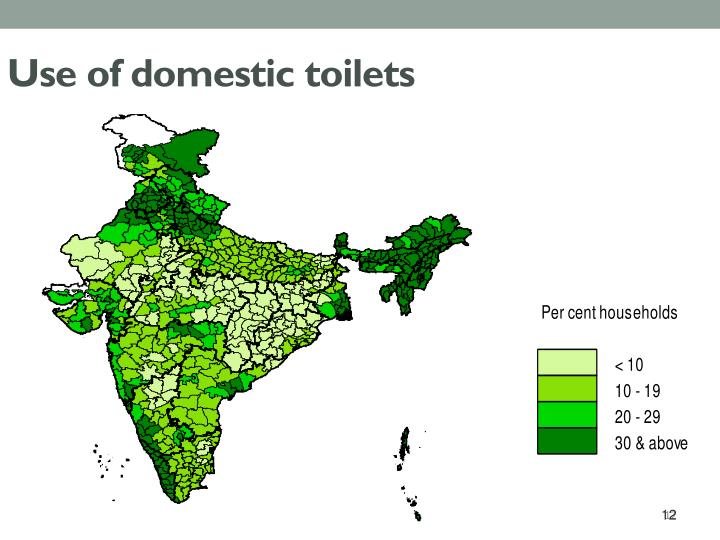 Use of domestic toilets