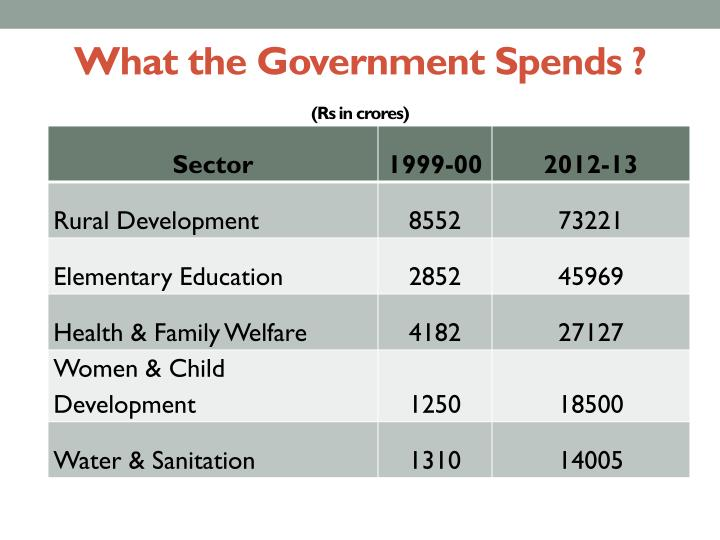 What the Government Spends ?