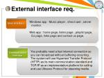 external interface req