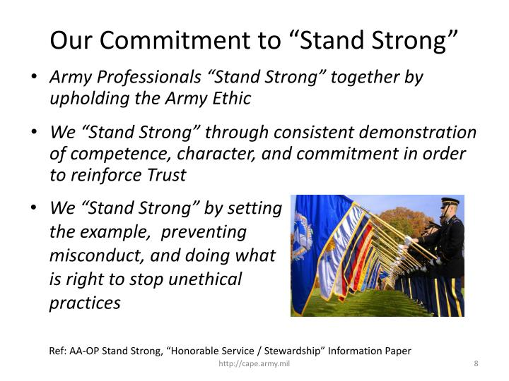 "Our Commitment to ""Stand Strong"""