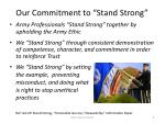 our commitment to stand strong