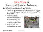 stand strong as stewards of the army profession