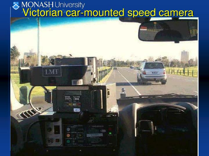 Victorian car-mounted speed camera