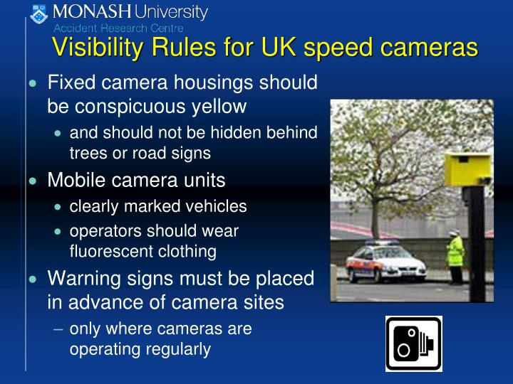 Visibility Rules for UK speed cameras