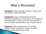 what is misconduct