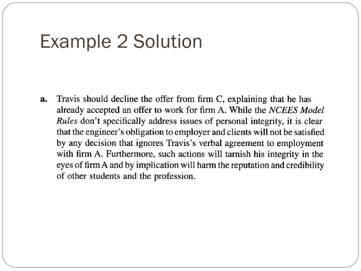 Example 2 Solution