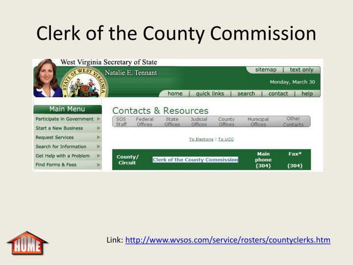 Clerk of the County Commission