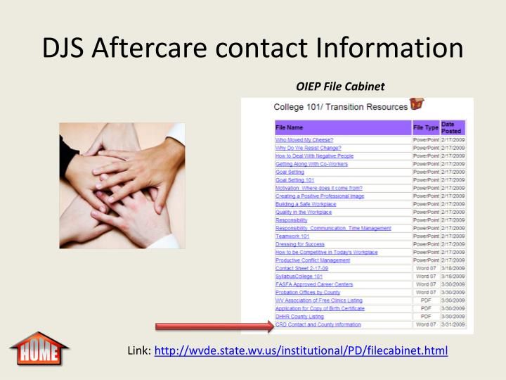 DJS Aftercare contact Information