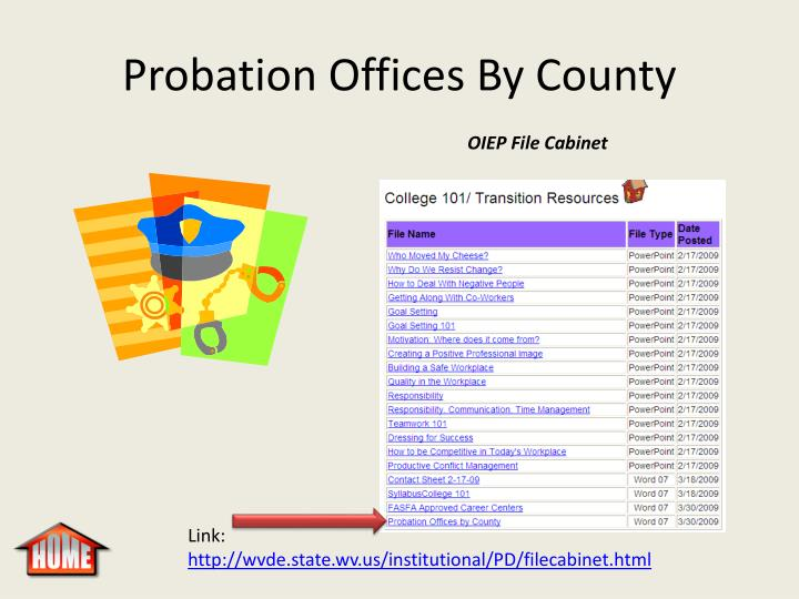 Probation Offices By County