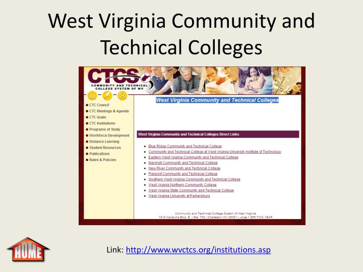 West Virginia Community and Technical Colleges