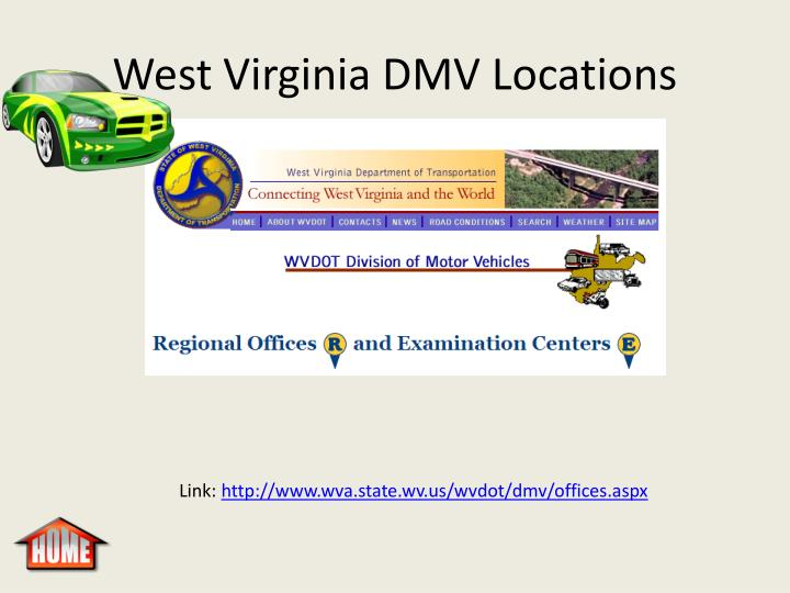 West Virginia DMV Locations