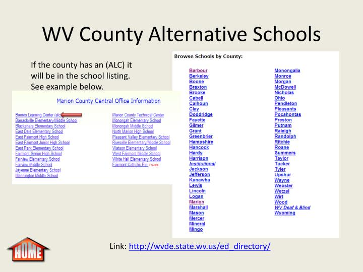 WV County Alternative Schools