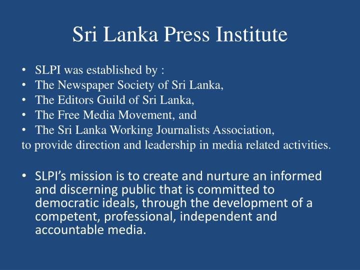 Sri Lanka Press Institute