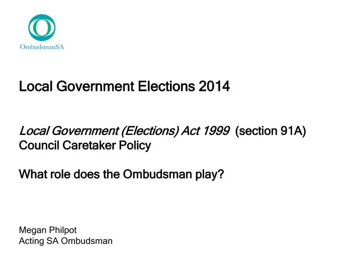 Local Government Elections 2014