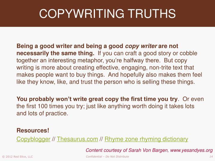 COPYWRITING TRUTHS