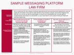 sample messaging platform law firm