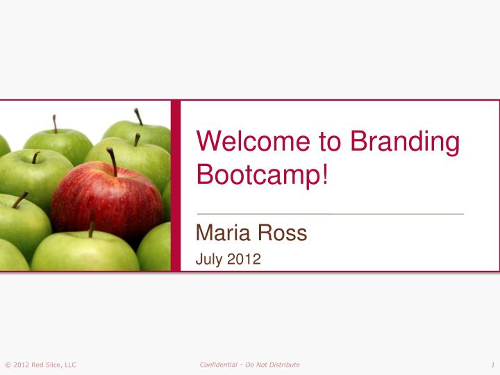 Welcome to branding bootcamp
