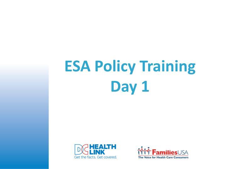 ESA Policy Training
