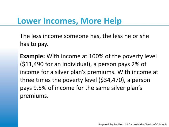 Lower Incomes, More Help