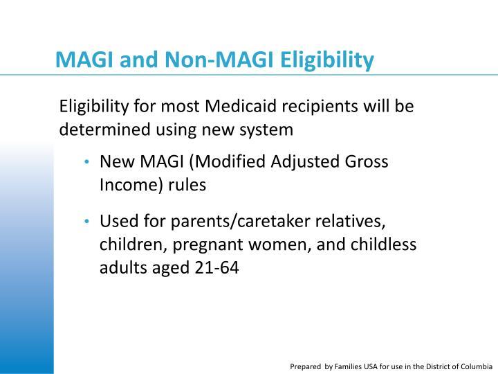 MAGI and Non-MAGI Eligibility