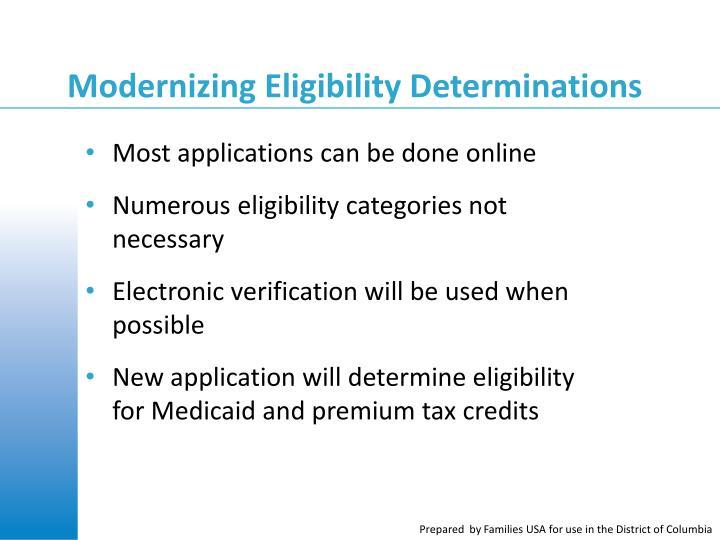 Modernizing Eligibility Determinations