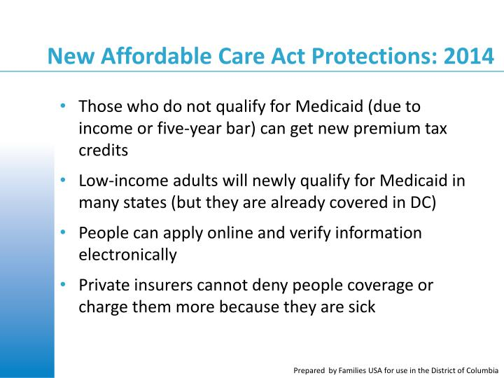 New Affordable Care Act Protections: 2014