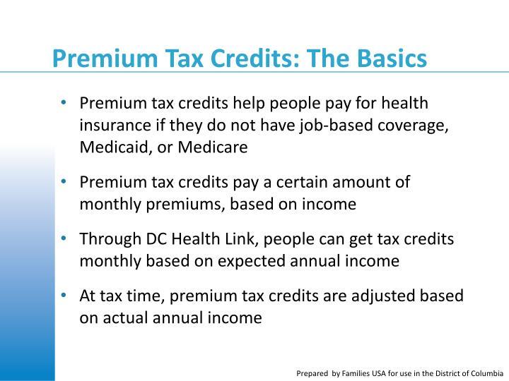 Premium Tax Credits: The Basics