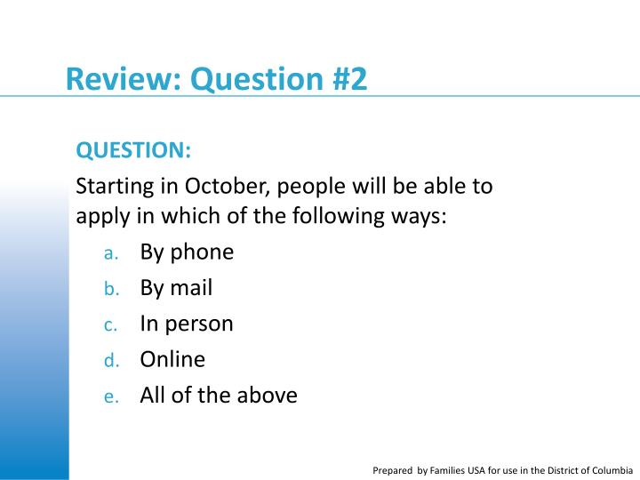 Review: Question #2