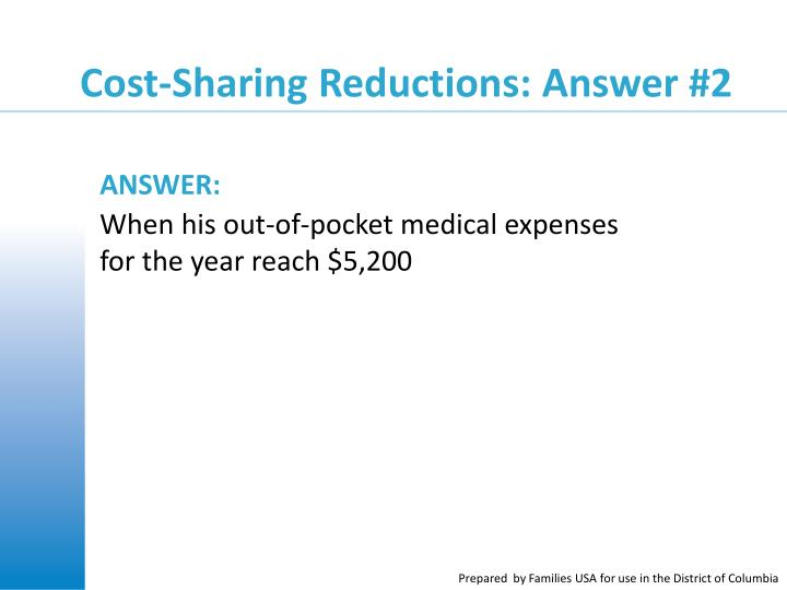 Cost-Sharing Reductions: Answer #2